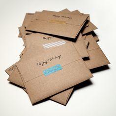 Craft paper envelopes and washi tape