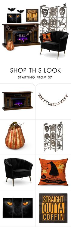 """Orange and black is back!!"" by ladybug-girl-14 ❤ liked on Polyvore featuring interior, interiors, interior design, home, home decor, interior decorating, DutchCrafters, Creative Co-op, Improvements and Arca"