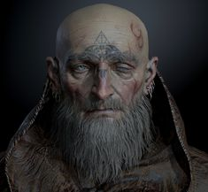 I wear my faith upon my flesh even as the gods squirm within me-Titus Wren 3d Face, Face Art, Dnd Characters, Fantasy Characters, Fantasy Inspiration, Character Inspiration, Character Concept, Character Art, Concept Art