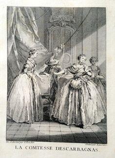 La Comtesse Descarbagnas - Molière - gravé par Laurent CARS d'après François BOUCHER - MAS Estampes Anciennes - Antique Prints since 1898