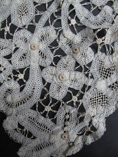 Vintage Hand Made Tape Lace Collar / Bertha from marzillivintage on Ruby Lane
