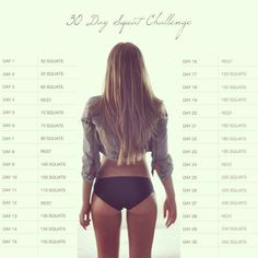30 day squat challenge. working on this right now
