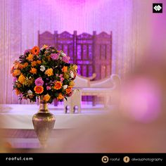 Decor or mendhi events or weddings - flowers like no other - statement piece stands out, ideal for cream rooms