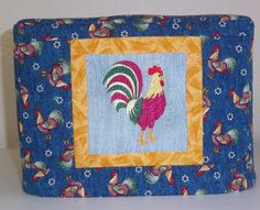 Rooster Toaster Cover Blue Toaster Cover with by PatsysPatchwork