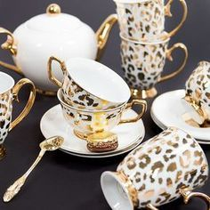 Bring on the Leopard print! #newcollection #new #tea #teacup #hightea #highteaparty #highteainstyle #gold #leopard #macaron #sweet #afternoontea #style #decor #luxury #paris #england #home #CristinaRe #CristinaReDesign