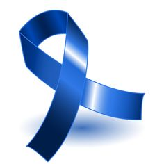 Here is the blue colon cancer ribbon.