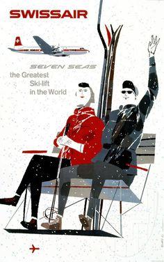 Vintage Swissair Advertisement
