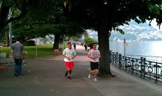 The promenade in Lugano is the most popular spot for evening runners