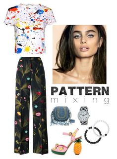 """Pattern Mixing"" by kotnourka ❤ liked on Polyvore featuring Fendi, Alice + Olivia, Dolce&Gabbana, Timex and Lokai"