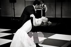 black & white dancefloor #wedding