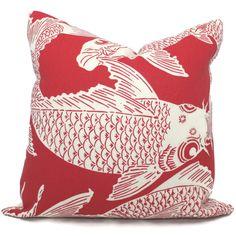 Manuel Canovas Calypso Decorative Pillow Cover Square or Lumbar Pillow, Koi Fish Pillow, Toss Pillow, Throw Pillow, Indoor Outdoor Pillow