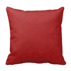 Red abstract wood pattern pillow