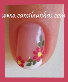 Acrylic Nails, Manicures, Nail Ideas, Nail Art Flowers, Flower Nails, Skin Products, Nailed It, Nail Art Galleries, French Nails