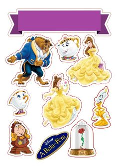 A bela e a fera topper de bolo png Beauty And The Beast Cake Birthdays, Beauty And Beast Birthday, Beauty And The Beast Party, Belle Beauty And The Beast, Scrapbook Da Disney, Baby Scrapbook, Cartoon Songs, Bolo Png, Little Poney