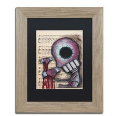 "Trademark Art 'Melting Hearts' by Abril Andrade Framed Graphic Art Size: 20"" H x 16"" W x 0.5"" D, Matte Color: White"
