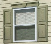 Use vinyl window headers, along with matching vinyl shutters to accent your windows and instantly increase your home's value. Our versatile ...