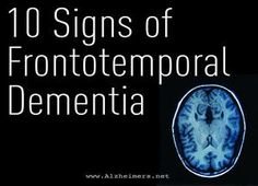Often misdiagnosed, FTD progresses differently from Alzheimer& but may show similar symptoms. What are its common signs? Read more. Alzheimer Care, Dementia Care, Alzheimer's And Dementia, Dementia Symptoms, Dementia Quotes, Signs Of Dementia, Alzheimer's Symptoms, Frontal Lobe Dementia, Early Onset Dementia