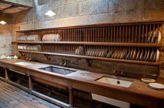 Classic kitchen detail at Castle Drogo (National Trust) - Devon by clicks_1000 (Away...), via Flickr