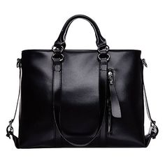 Miranda Large Tote with Exterior Zip Pocket (36 CAD) ❤ liked on Polyvore featuring bags, handbags, tote bags, bolsas, bolso, black, tote bag purse, handbags tote bags, tote purse and handbags totes