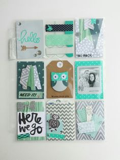 Teal and Grey Pocket letter