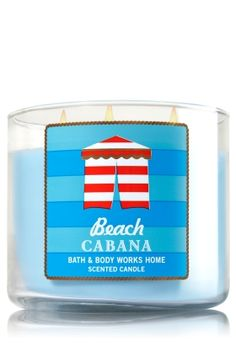 Bath & Body Works Beach Cabana 3-Wick Candle  $22.50 : A beachy blend of sweet jasmine, orange blossom & a hint of fluffy white towels.