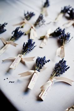 dried lavender for placecard holders