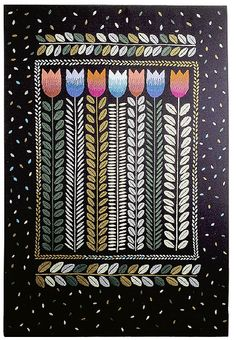 Vuorelma.net - Wall textiles / dark background - ELÄMÄN KEVÄT 120 - WALL TEXTILE