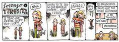 Liniers – Lorenzo y Teresita – Te tengo que abrazar muy fuerte… Ahora yo te tengo que abrazar fuerte… muy fuerte.