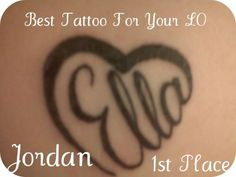 The only tattoo I can think of that I wouldn't later regret :-) Adorable! (But with my son's name)