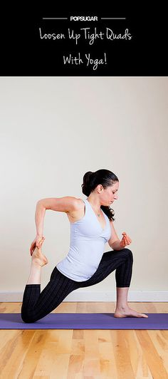 Loosen tight quads- yoga positions for stretching quadriceps Yoga Inspiration, Fitness Inspiration, Yoga Fitness, Fitness Tips, Fitness Quotes, Fitness Motivation, Tight Quads, Quad Stretch, Meditation