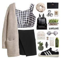 """""""#17"""" by jesicacecillia ❤ liked on Polyvore featuring Topshop, adidas, MTWTFSS Weekday, Baxter of California, Monki, H&M, Retrò and Marc by Marc Jacobs"""