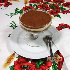 Tiramisu. Italian dessert made with savoiardi, coffee and mascarpone