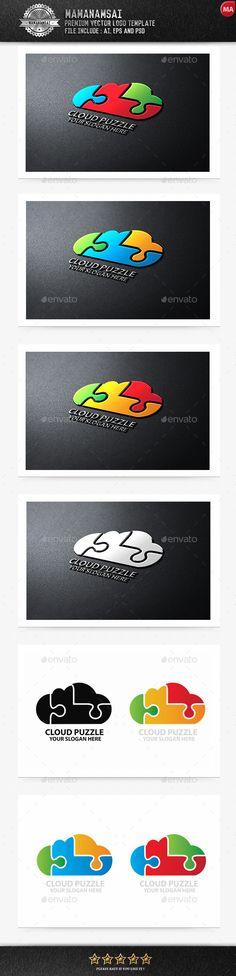 Cloud Puzzle Logo — Photoshop PSD #multimedia #internet storage • Available here → https://graphicriver.net/item/cloud-puzzle-logo/9643978?ref=pxcr