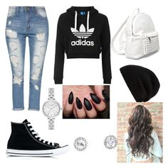 """""""Untitled #81"""" by bosniamode ❤ liked on Polyvore featuring adidas Originals, Converse, 7 Chi, Rick Owens and Kate Spade"""