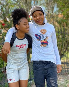 Cute Couple Outfits, Swag Outfits For Girls, Teenage Girl Outfits, Cute Girl Outfits, Cute Black Kids, Cute Black Couples, Pretty Kids, Black Boys, Black Kids Fashion