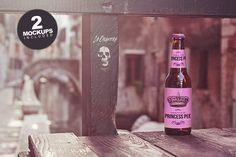 Beer Bridge Mockup (duo) by Pere Esquerrà on @creativemarket