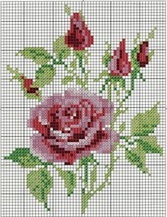 cross stitch roses..