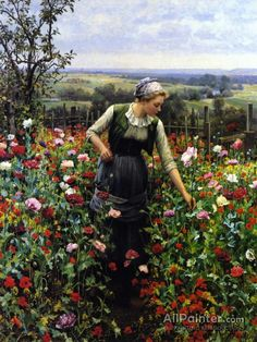 Daniel Ridgway Knight,A July Morning oil painting reproductions for sale