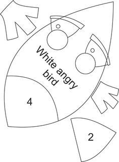 Angry Birds de feltro Felt Patterns, Bird Patterns, Craft Patterns, Sewing Patterns, Plush Pattern, Pattern Paper, Book Journal, Journal Covers, Appliques
