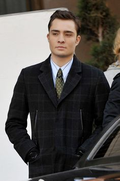 Ed Westwick - Blake Lively, Ed Westwick and Leighton Meester on Set