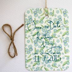Forget me not Save the date £1.50 by Victoria Snape