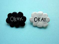 The fault in our stars 'Okay' badge. - Een weeffout in onze sterren (John Green)