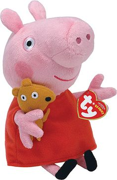 UK Peppa Pig Theme Park Exclusive 2018 NEW Ty Beanie Baby ~ PRINCESS TEDDY