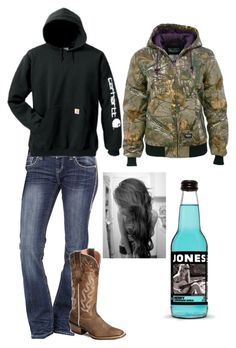 """""""Sorry for not coming on"""" by rodeogirl579 ❤ liked on Polyvore featuring Rock & Roll Cowgirl, Ariat, Carhartt and Realtree"""