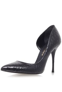 **Leather High Heel Court Shoes by Kurt Geiger