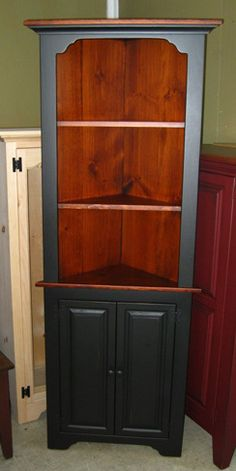 corner cupboards collection amish made in pa for dining room - Dining Room Corner Hutch