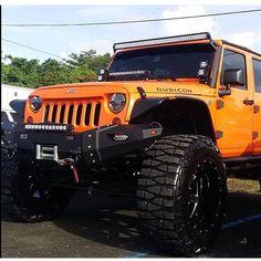 JEEP RUBICON CUSTOMIZED WITH MY FAVORITE TIRES NITTO MUD GRAPPLER !!!! Jeep Mods, Jeep Jeep, Jeep Rubicon, Jeep Wrangler Unlimited, Jeep Wrangler Colors, Orange Jeep, Toyota, Custom Jeep, Automotive Group