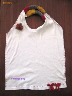 T-shirt made into a bag