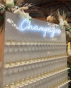 Neon wedding inspiration and decor for Magpie Wedding Wedding Goals, Our Wedding, Dream Wedding, Drinks Wedding, Wedding Champagne, Wedding Stage, Champagne Flutes, Wedding Blog, Wedding Dress