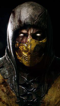 Scorpion Mortal Kombat X Mortal Kombat X Scorpion, Sub Zero Mortal Kombat, Art Mortal Kombat, Mortal Kombat Tattoo, Gas Mask Art, Masks Art, Deadpool Wallpaper, Marvel Wallpaper, Mobile Wallpaper
